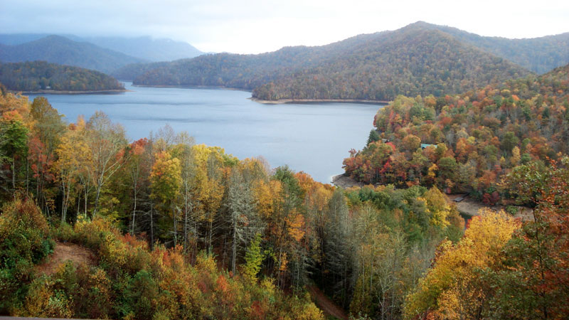 Nantahala Lake in the Fall