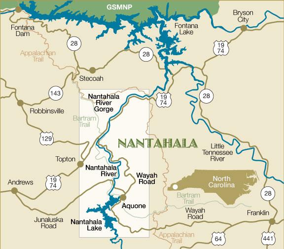 Bryson Nc Map.Nantahala North Carolina Vacation Getaways Franklin Nc
