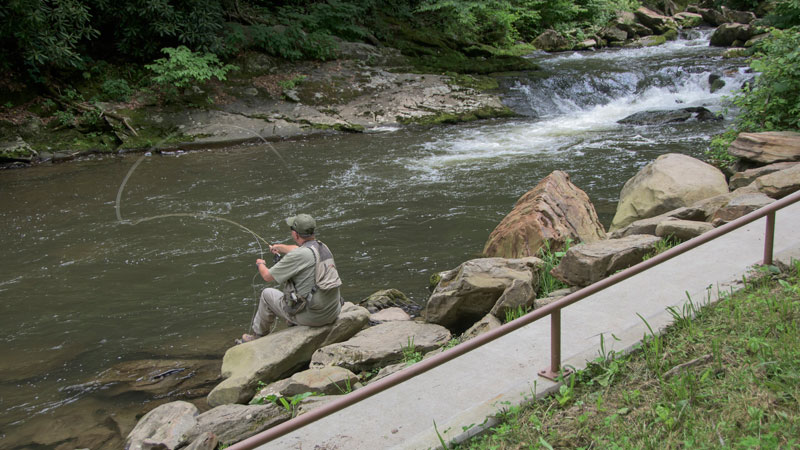 NC Trout Fishing - Upper Nantahala River & Gorge - Fishing