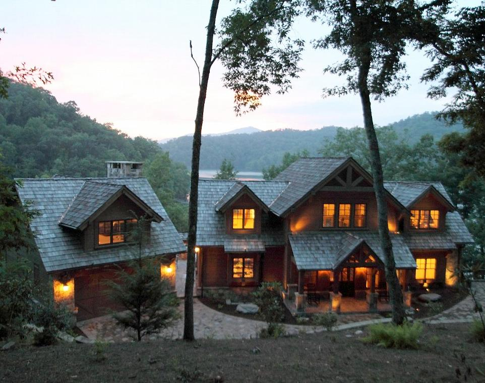 Nantahala cabin rentals chalets vacation homes lodging for The mountain house