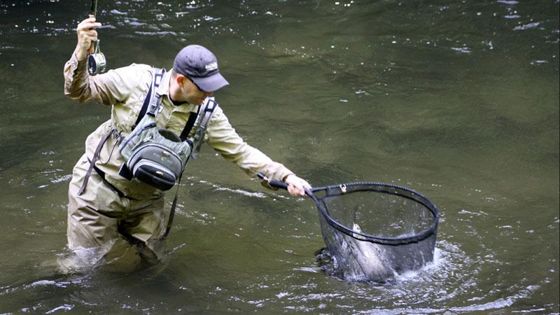 NC Trout Fishing - Upper Nantahala River & Gorge - Fishing